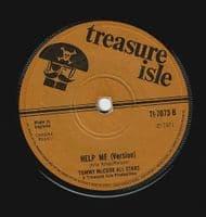 KEN PARKER Help Me Make It Through The Night Vinyl Record 7 Inch Treasure Isle 1971